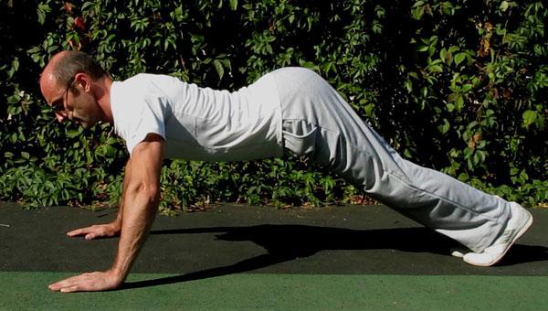 Мышцы кора и отжимания-тест. Излом вверх.