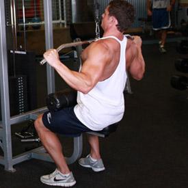 Комплекс упражнений для тренажёрного зала. Вертикальная тяга.