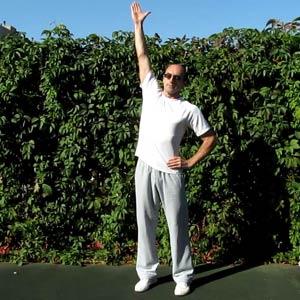 Утренняя гимнастика. Наклоны в стороны. Растяжка мышц.