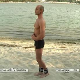 Комплекс упражнений с гантелями. Сгибания ноги с грузом.