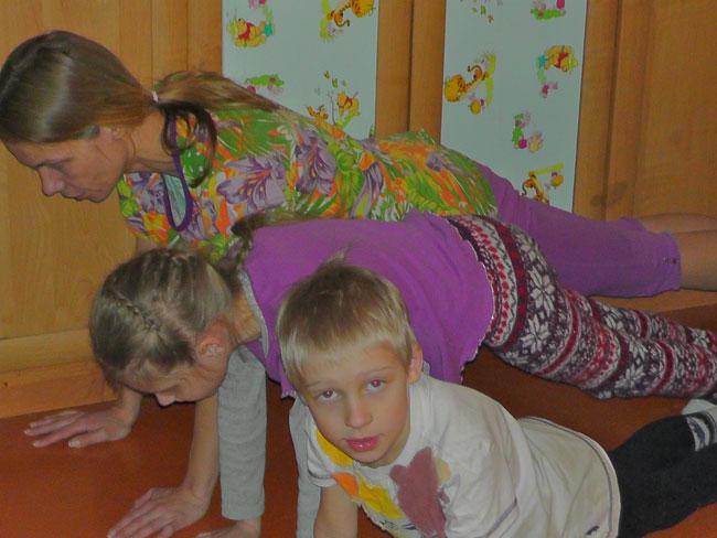 Отжимания всей семьёй