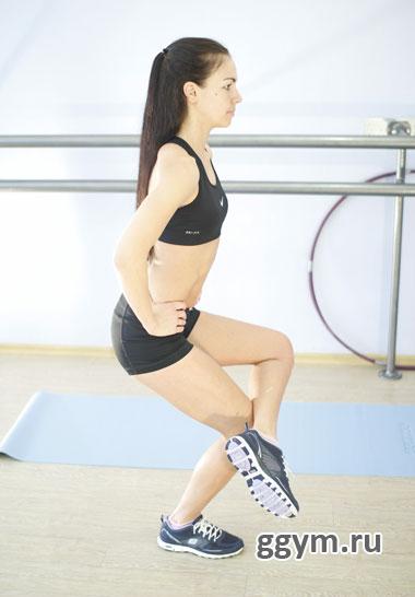 Статическая гимнастика. Стульчик на одной ноге.