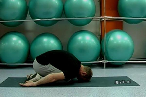 Комплекс упражнений для расслабления спины. Поза ребёнка 1.
