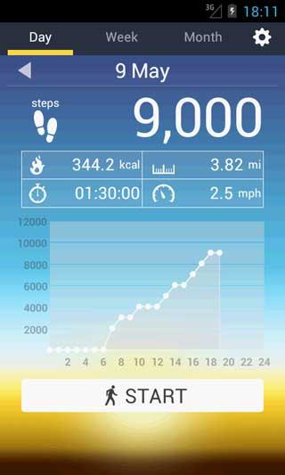 Мобильное приложение для подсчёта шагов