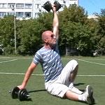 Три нестандартных упражнения с гантелями