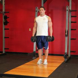 Выпады вперёд для мышц ягодиц