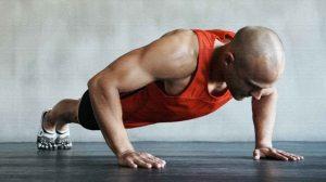 Отжимания с подтягиваниями коленей