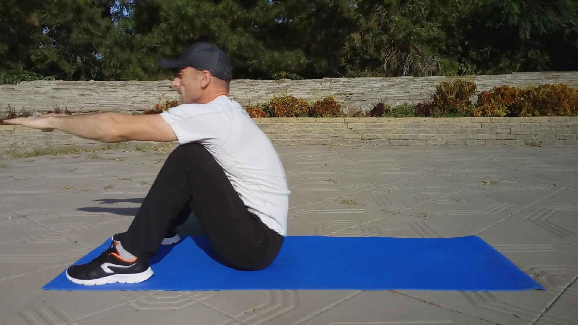 Упражнение ситап - финиш