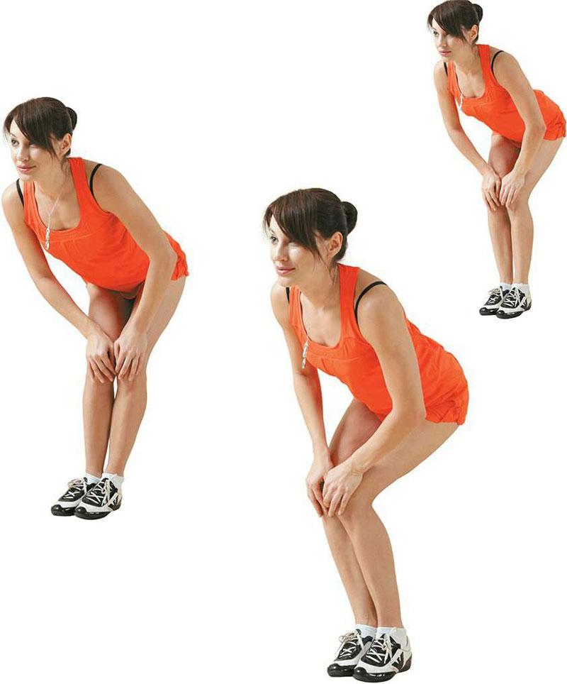 Упражнение вращения коленей