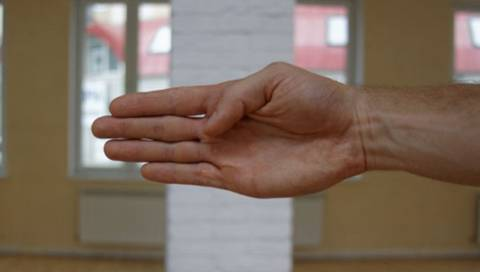 Форма руки для теста на лордоз
