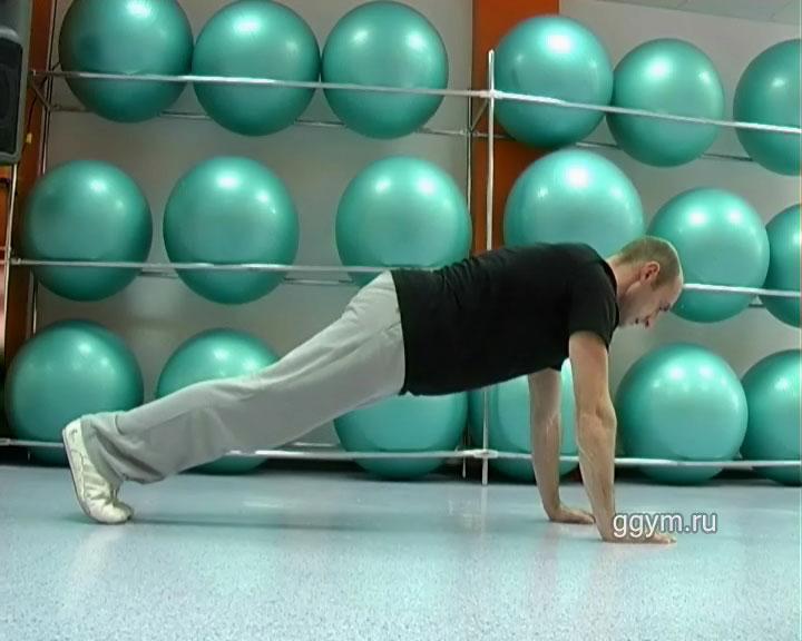 Упражнение для плоского живота. Подтягивания коленей1.