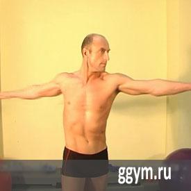 Осевые вращения торса для косых мышц