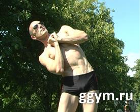 Вращения телом для косых мышц живота