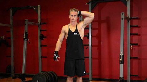 Изометрическое упражнение для шеи: влево и вправо