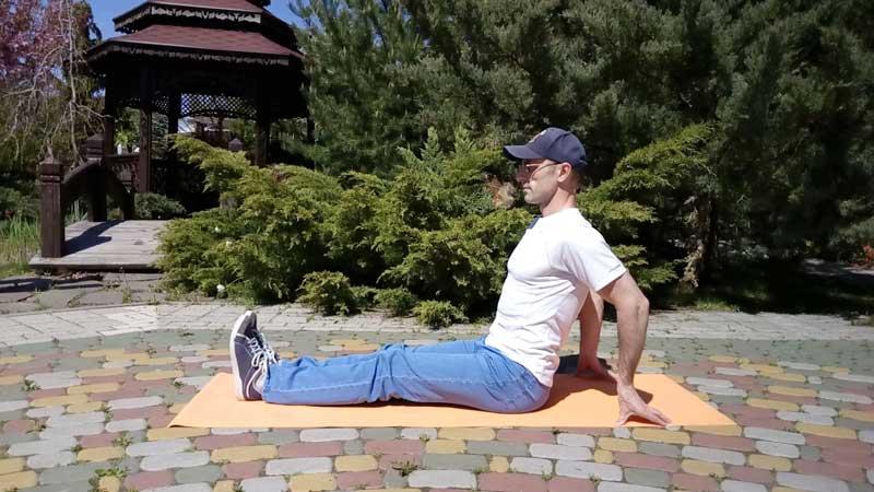 Тест на гибкость сидя