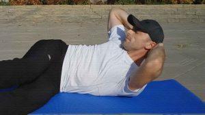 Косые скручивания. Упражнение для косых мышц живота.