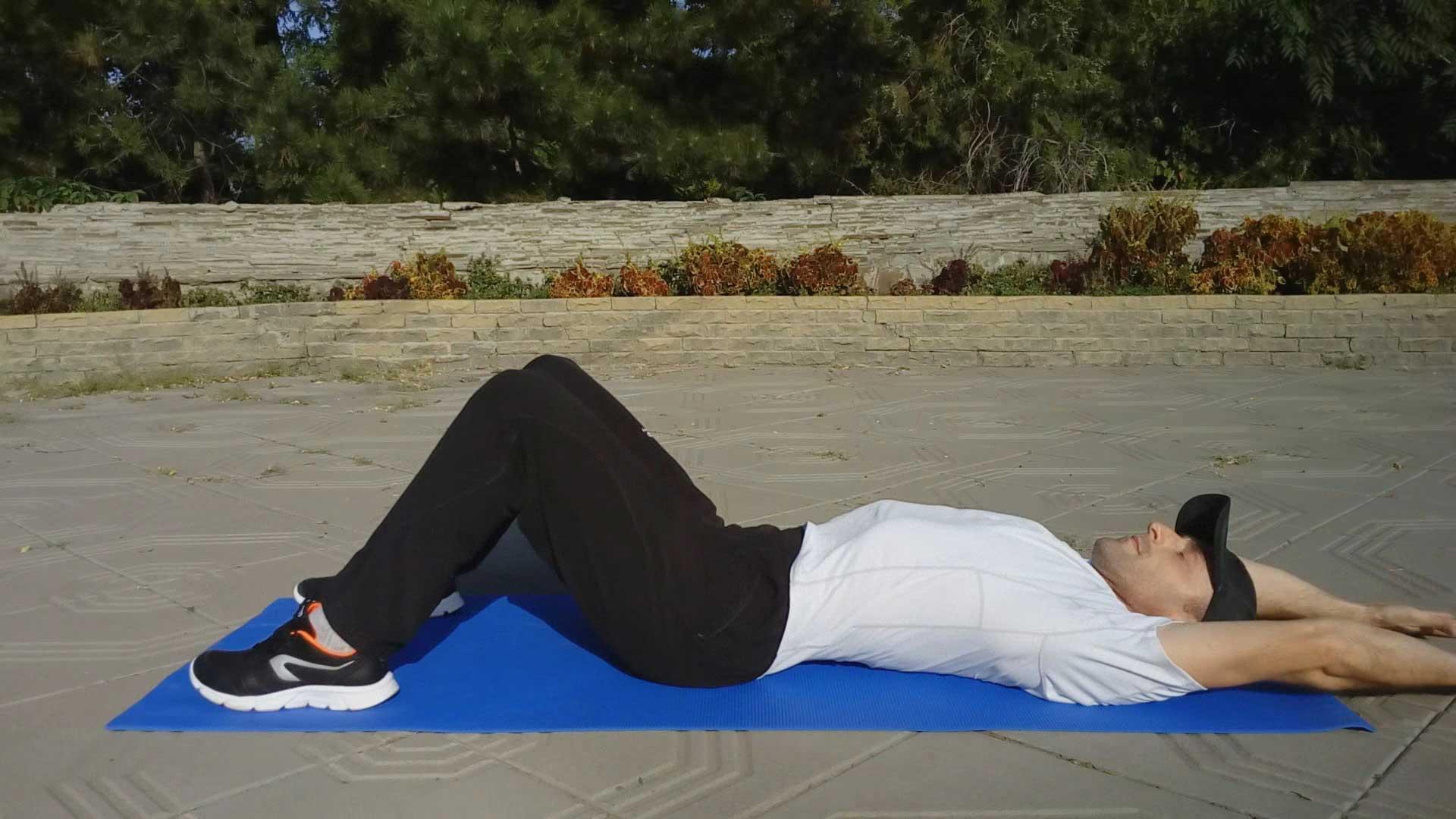 Упражнение для мышц кора - ситап