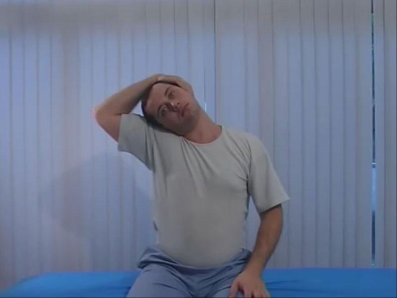 Боковая растяжка мышц шеи