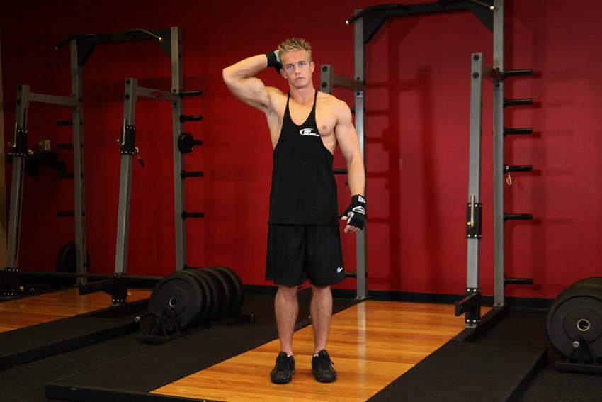 Изометрическое упражнение для шеи