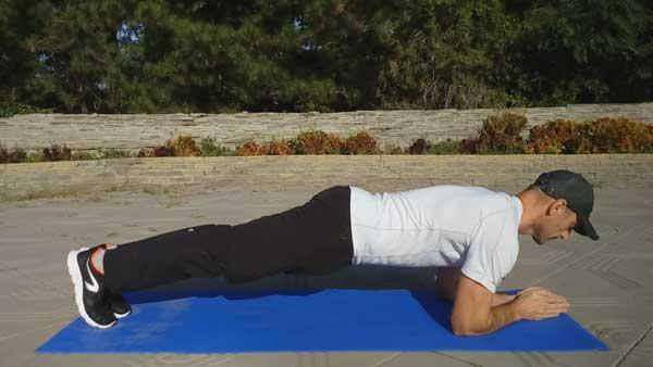 Упражнение передняя планка
