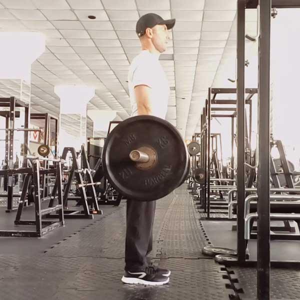 Упражнение для мышц спины - мертвая тяга