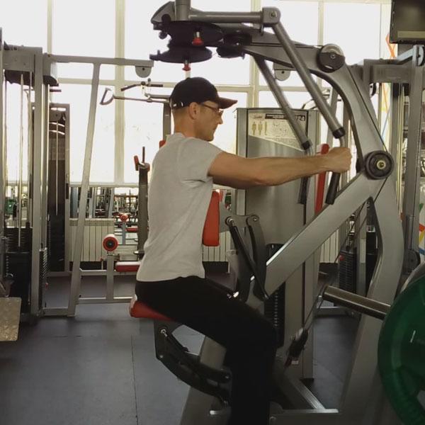 Отведения рук назад. Тренировка спины и плеч.