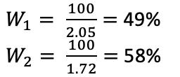 Расчеты для определения суммы ставки.